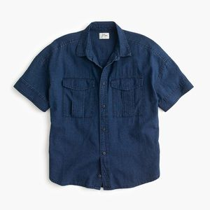 J. Crew Japanese Denim Utility Pocket Shirt